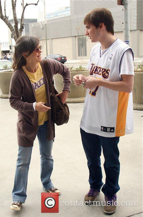Sally Field, Her Son Samuel Greisman At A Lakers Game At The Staples Center and Staples Center 1