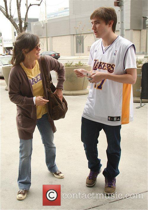 Sally Field, Her Son Samuel Greisman At A Lakers Game At The Staples Center and Staples Center 2