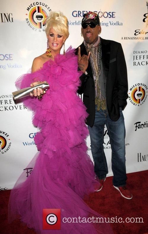 Elaine Lancaster and Dennis Rodman