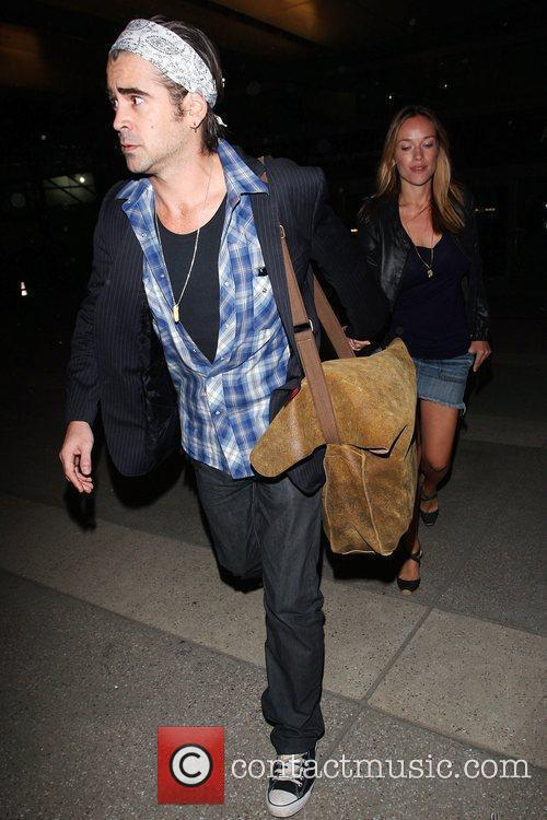 Colin Farrell and Girlfriend Alicja Bachleda Arrive At Lax Airport After Vacationing In Cabo 11