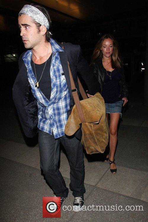 Colin Farrell and Girlfriend Alicja Bachleda Arrive At Lax Airport After Vacationing In Cabo 2