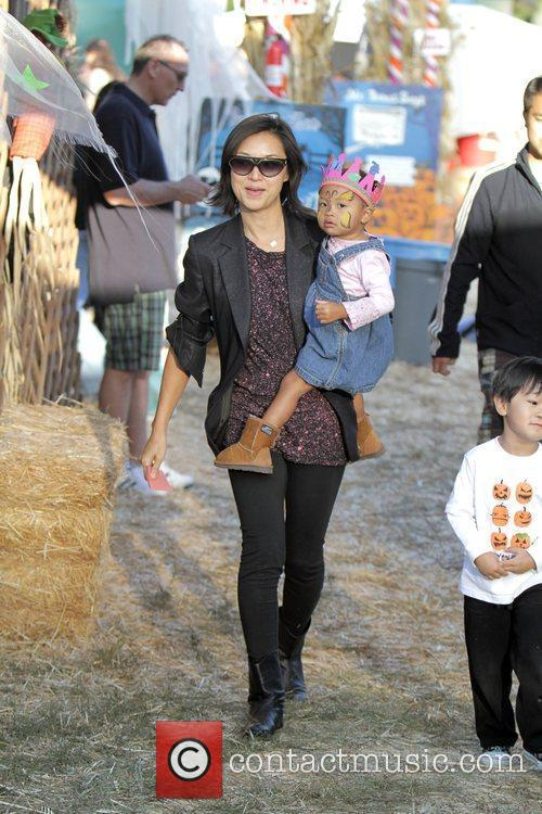 David Alan Grier and His Family Visit Mr Bones Pumpkin Patch In West Hollywood. 1