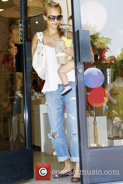 Jessica Alba and Her Daughter Honor Marie Warren 8