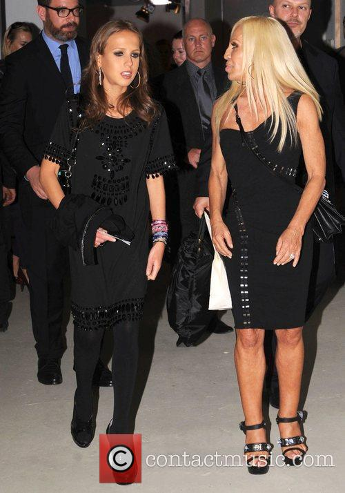 Donatella Versace and Allegra Versace