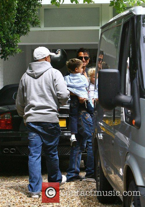 Peter Andre and With His Son Junior 11