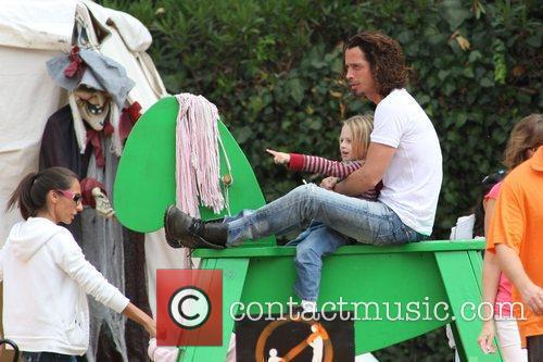 Chris Cornell and Family Visits Mr. Bones Pumpkin Patch In West Hollywood