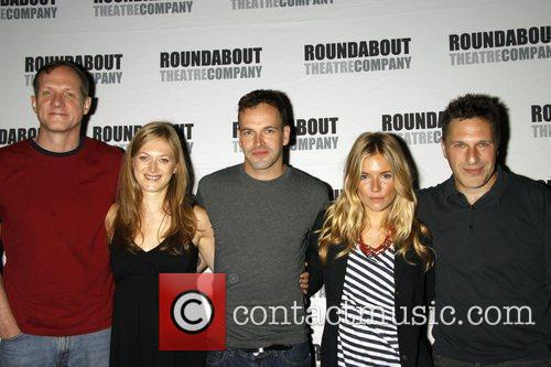 Mark Brokaw, Jonny Lee Miller and Sienna Miller