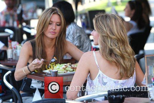 Audrina Patridge and Lo Bosworth Film Scenes For The New Season Of 'the Hills' Outside Fratelli's Restaurant On Melrose Avenue 10