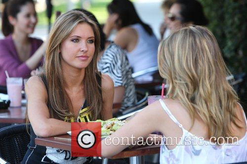 Audrina Patridge and Lo Bosworth Film Scenes For The New Season Of 'the Hills' Outside Fratelli's Restaurant On Melrose Avenue 5