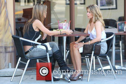 Audrina Patridge and Lo Bosworth Film Scenes For The New Season Of 'the Hills' Outside Fratelli's Restaurant On Melrose Avenue 6
