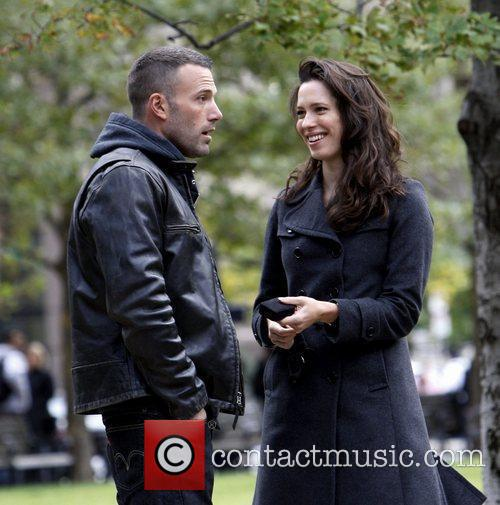 Ben Affleck and Rebecca Hall On The Set Of 'the Town' Filming In Copley Square 7