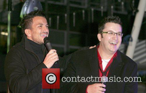 Peter Andre and Wes 7