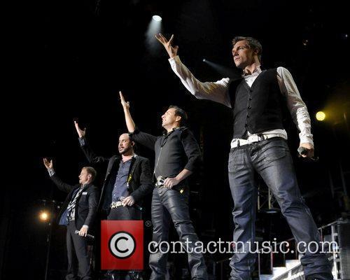 Brian Littrell (l), Backstreet Boys, Brian Littrell, Howie Dorough and Nick Carter