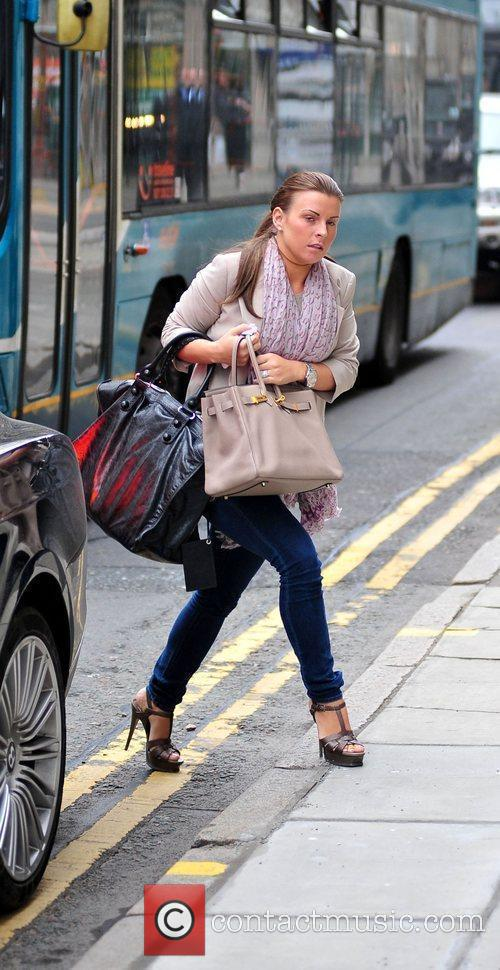 Coleen Rooney On Her Way Into Grey Space Photo Studio's To Do A Photo Shoot 2