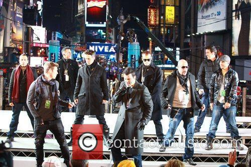 New Kids On The Block, Backstreet Boys, Dick Clark and Ryan Seacrest