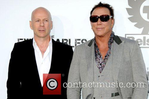 Bruce Willis and Mickey Rourke