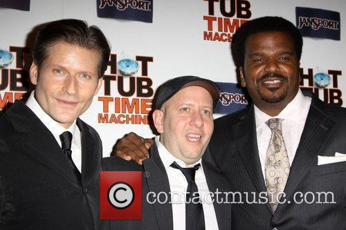 Crispin Glover, Steve Pink, Director and Craig Robinson 2