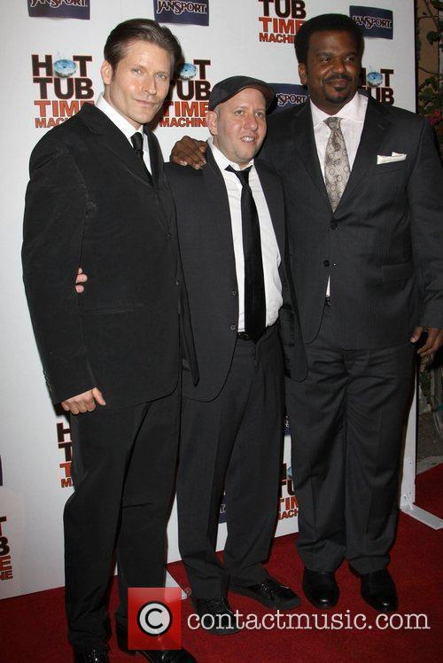 Crispin Glover, Steve Pink, Director and Craig Robinson 3