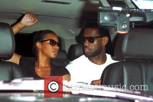 Lebron James and Girlfriend Savannah Brinson Sighted In South Beach After Announcing He Will Be Playing For The Miami Heat