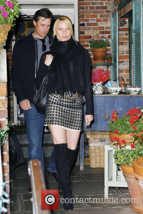 Nicollette Sheridan and Boyfriend Steven Pate Leaving Ivy Restaurant In West Hollywood