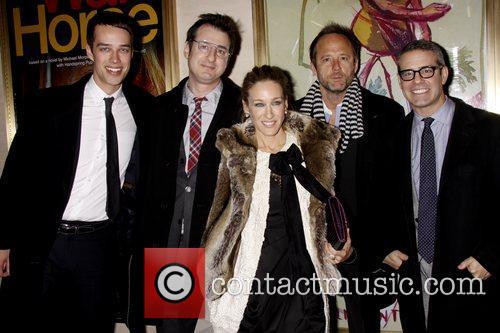 Jon Robin Baitz, John Benjamin Hickey and Sarah Jessica Parker