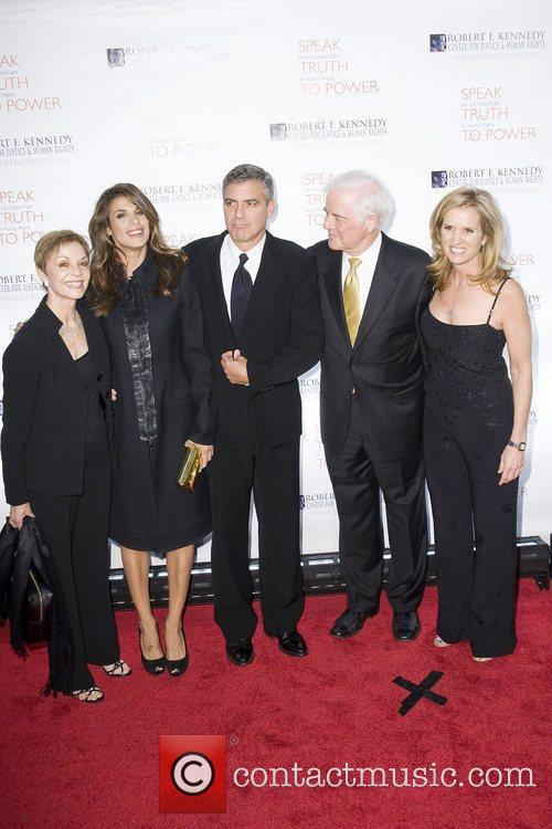 Elisabetta Canalis, George Clooney, Justice, Kerry Kennedy, Nick Clooney and Robert F Kennedy