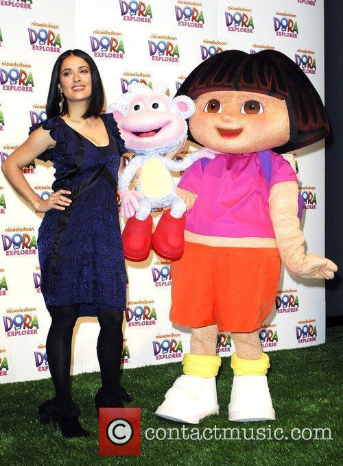 Salma Hayek and Dora The Explorer 3