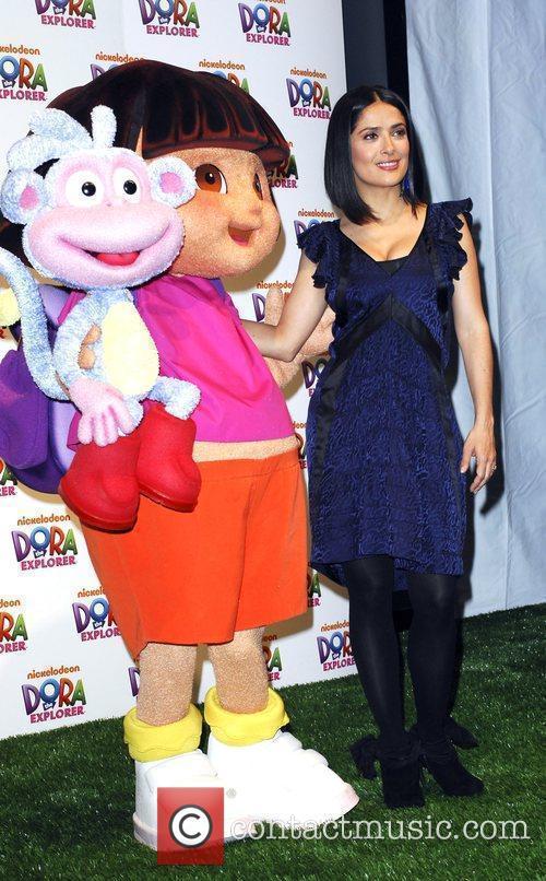 Salma Hayek and Dora The Explorer 2