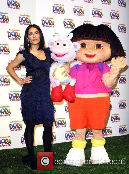 Salma Hayek and Dora The Explorer 1