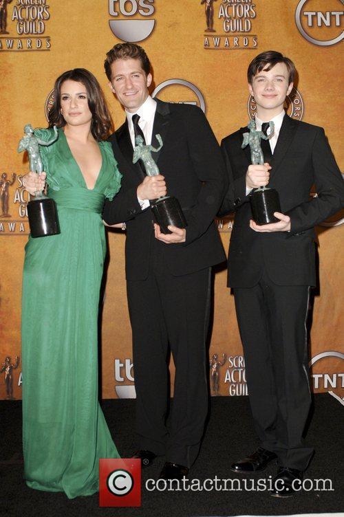 Lea Michele, Matthew Morrison and Chris Colfer 6