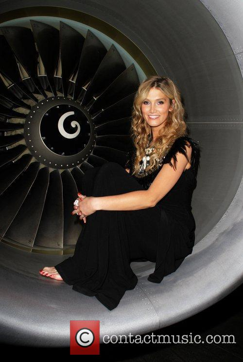 Delta Goodrem and Richard Branson