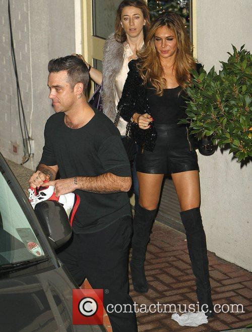 Robbie Williams, Ayda Field and Take That
