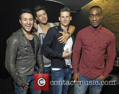 Antony Costa, Duncan Jones, Lee Ryan and Simon Webbe