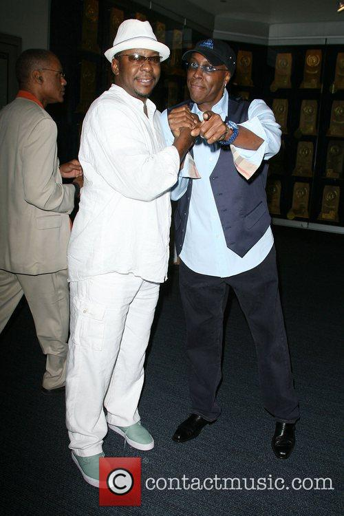 Bobby Brown and Arsenio Hall