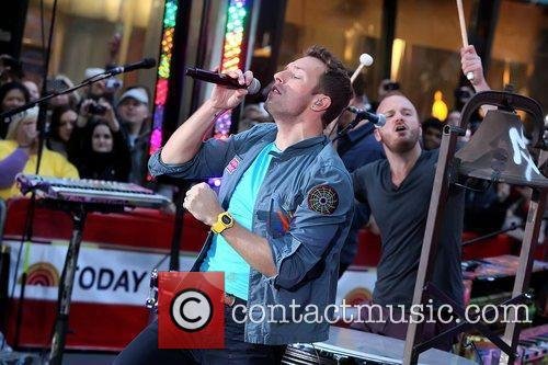 Chris Martin, Will Champion and Rockefeller Plaza