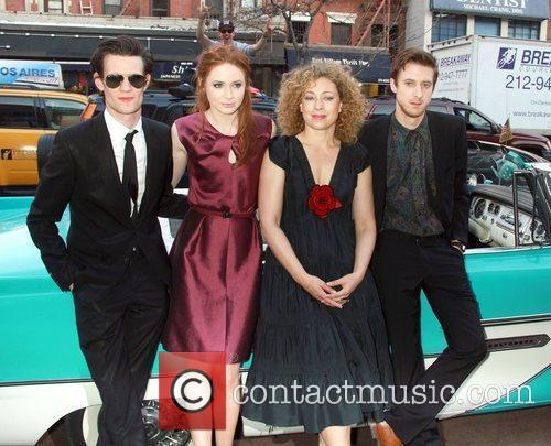 Matt Smith, Alex Kingston and Karen Gillan 4