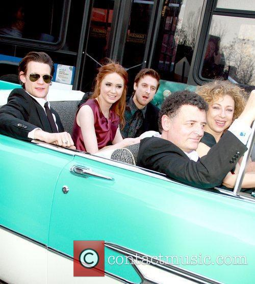 Matt Smith, Alex Kingston and Karen Gillan 6