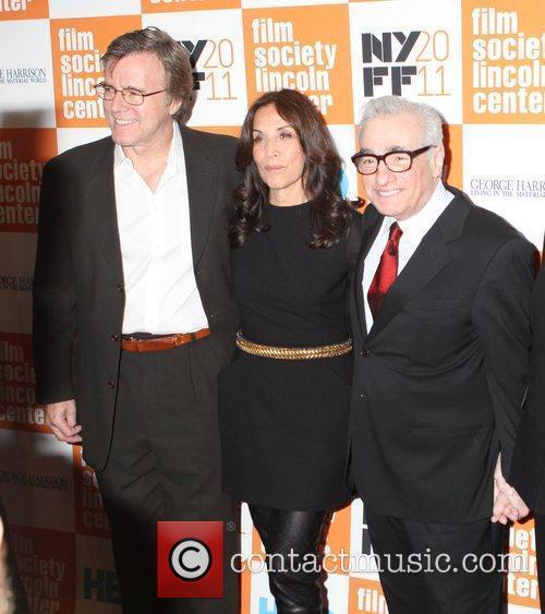 Nigel Sinclair, Martin Scorsese and Olivia Harrison 3