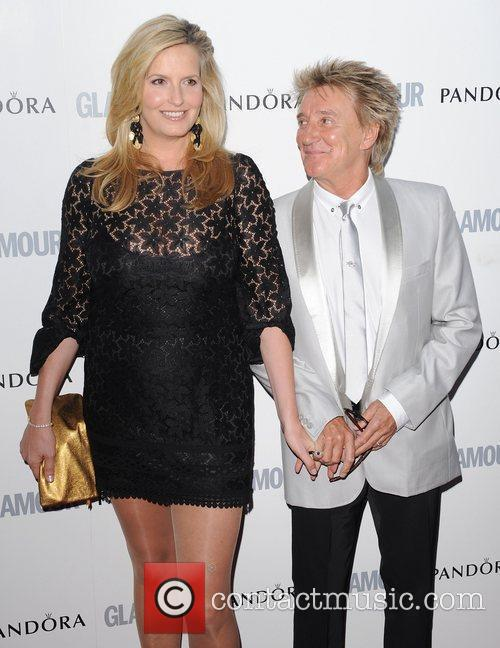 Penny Lancaster, Rod Stewart and Glamour Women Of The Year Awards