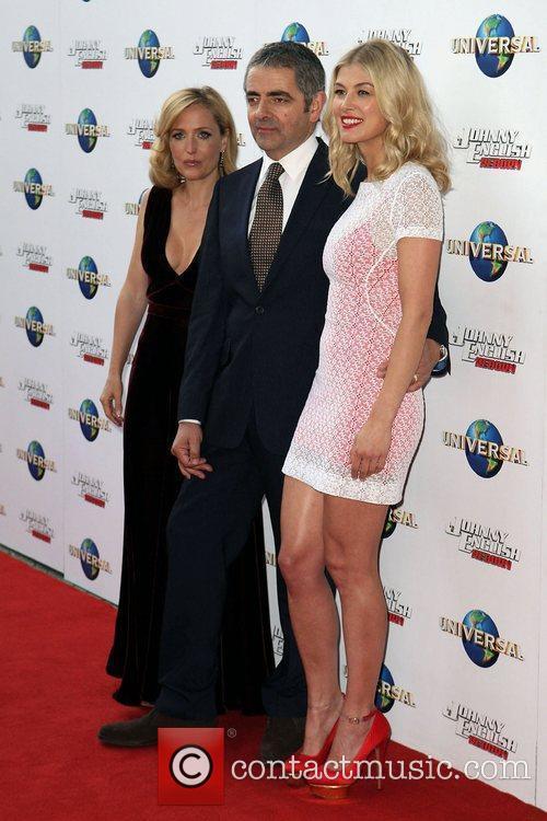 Gillian Anderson, Rosamund Pike and Rowan Atkinson