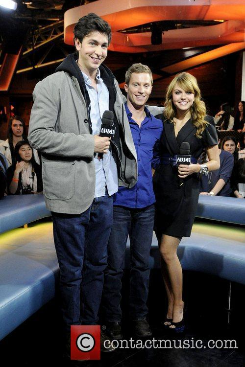 Nicholas Braun, Aimee Teegarden and Jonathan Keltz
