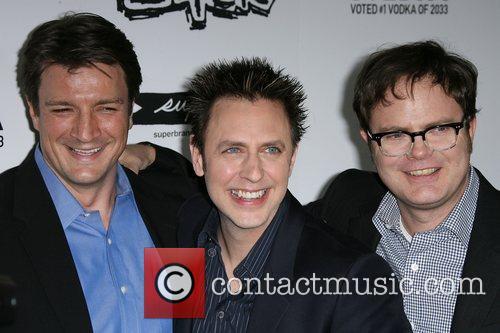Nathan Fillion, James Gunn and Rainn Wilson
