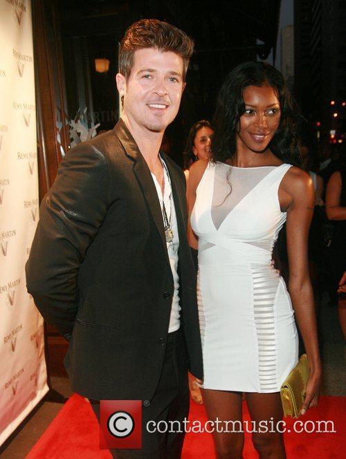 Robin Thicke and Jessica White