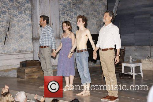 Jason Butler Harner, Carey Mulligan and Chris Sarandon