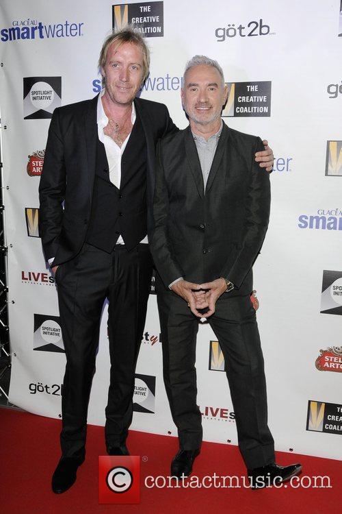 Rhys Ifans and Roland Emmerich