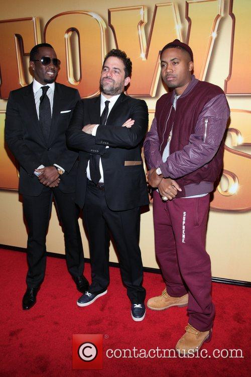 Sean Combs, Brett Ratner, Nas and Ziegfeld Theatre 6