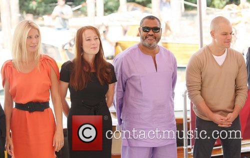 Gwyneth Paltrow, Jennifer Ehle, Laurence Fishburne and Matt Damon 9