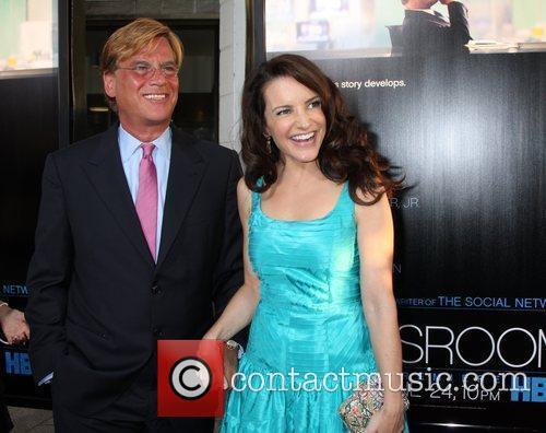 Aaron Sorkin and Kristin Davis 1
