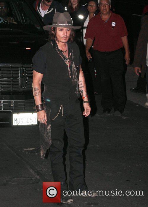 Johnny Depp, Pink, Steven Tyler and Pink Taco Restaurant