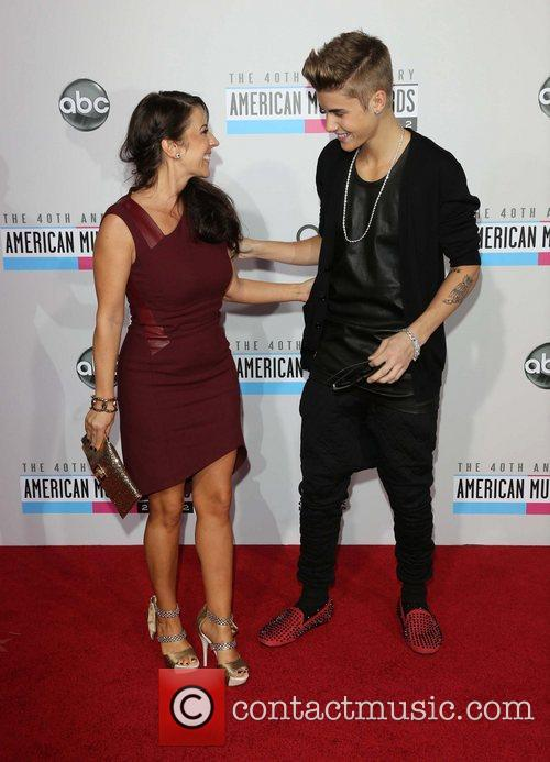 Justin Bieber and Pattie Mallette